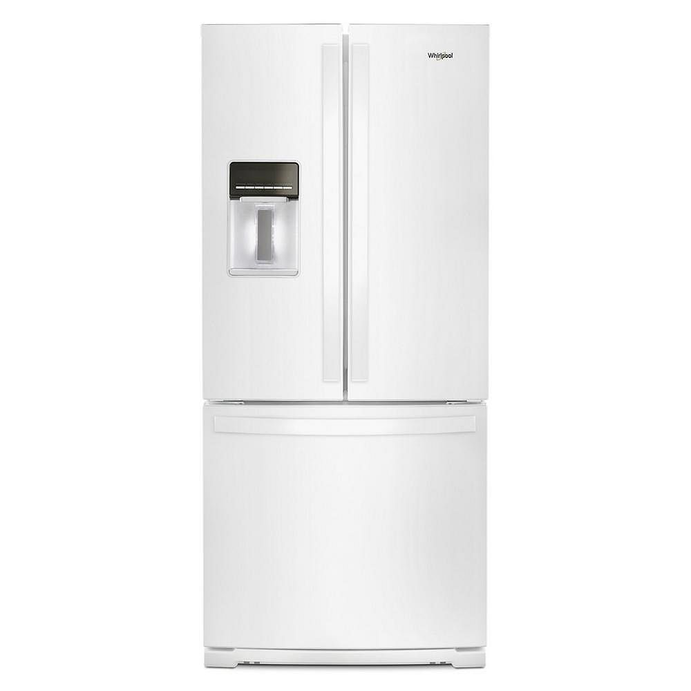 Whirlpool 30-inch W 20 cu.ft  French Door Refrigerator in White