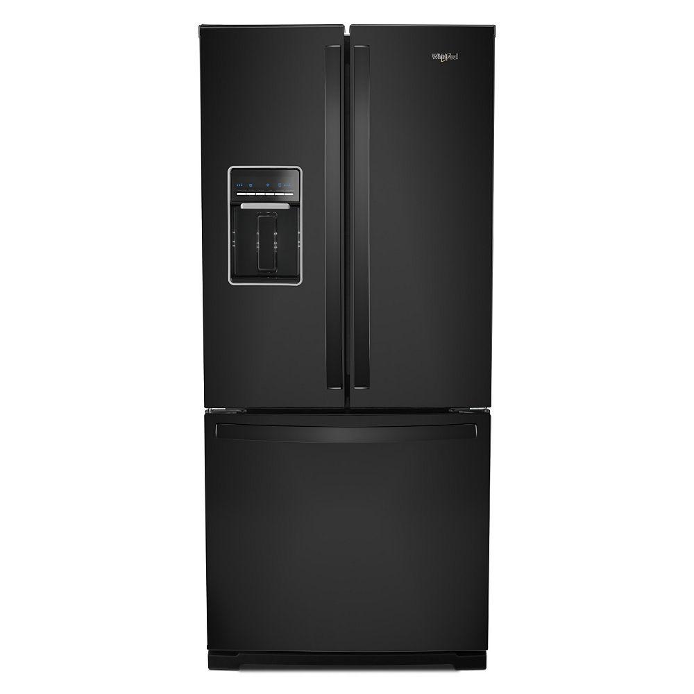 Whirlpool 30-inch W 20 cu.ft  French Door Refrigerator in Black