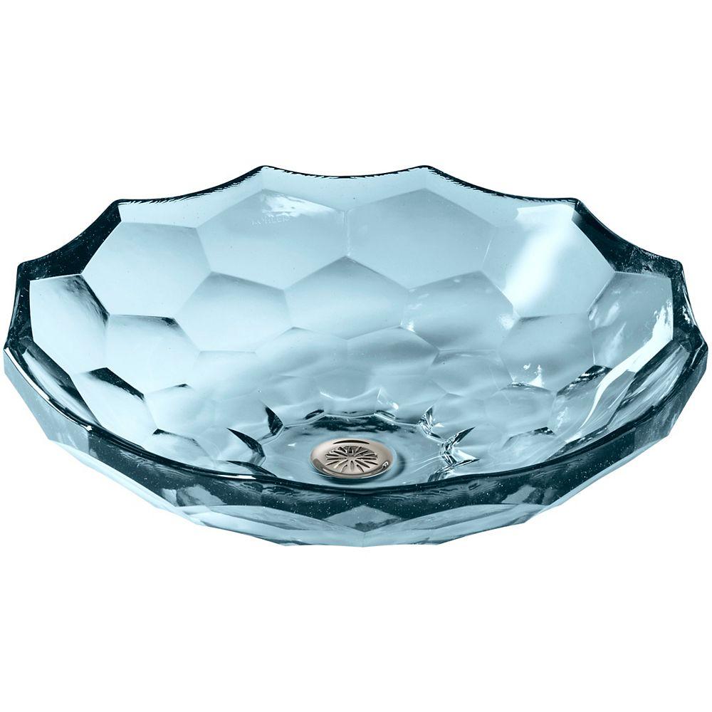 KOHLER Briolette(TM) vessel faceted glass bathroom sink