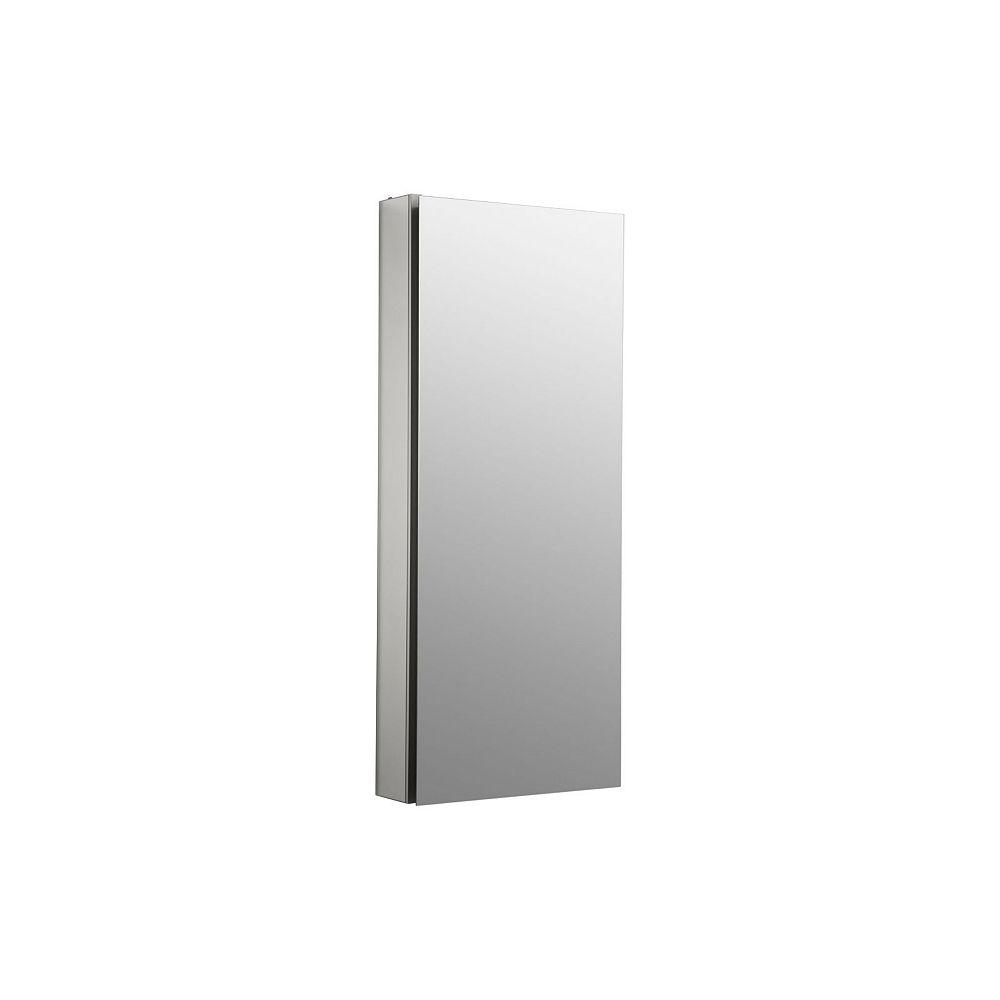 KOHLER Catalan 15 inch W X 36  inch H Aluminum Single-Door Recessed or Surface Mount Medicine Cabinet