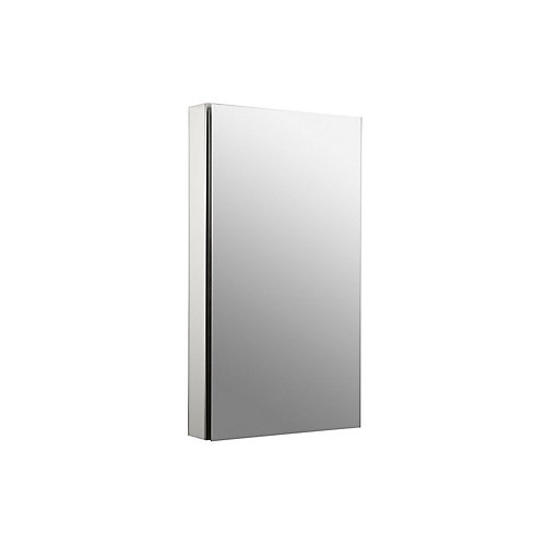 Catalan 20-1/8 inch W X 36  inch H Aluminum Single-Door Surface-Mount Medicine Cabinet