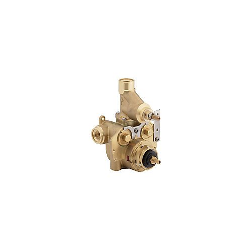 Master shower 1/2  inch Thermostatic Valve With Integrated Volume Control And Stops
