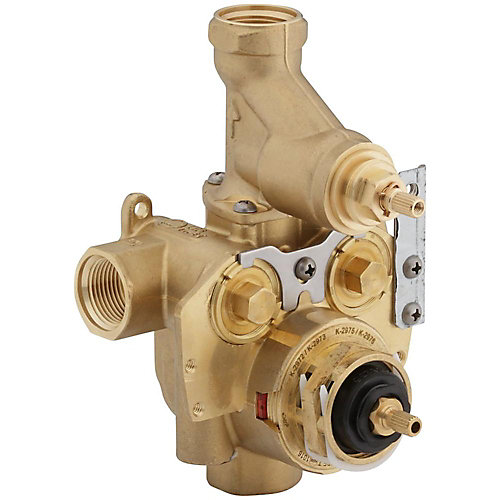 Master shower 3/4  inch Thermostatic Valve With Integral Volume Control And Stops