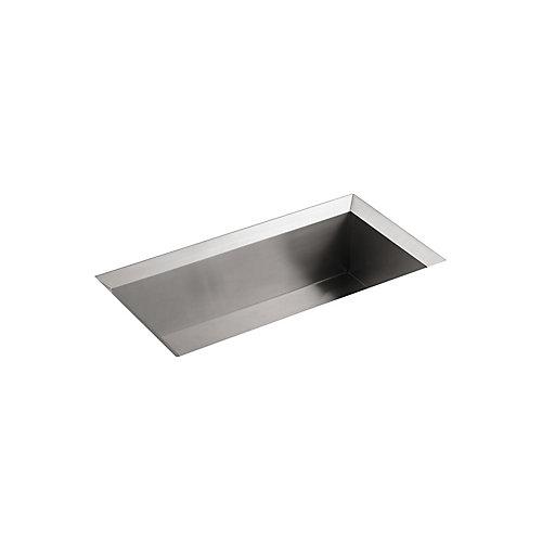 Poise Undermount Stainless Steel 33X18X9.75 0-Hole Single Bowl Kitchen Sink
