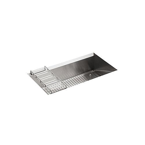 Grand evier de cuisine simple 8 Degree, en sous-surface, 33 x 18 x 10 po