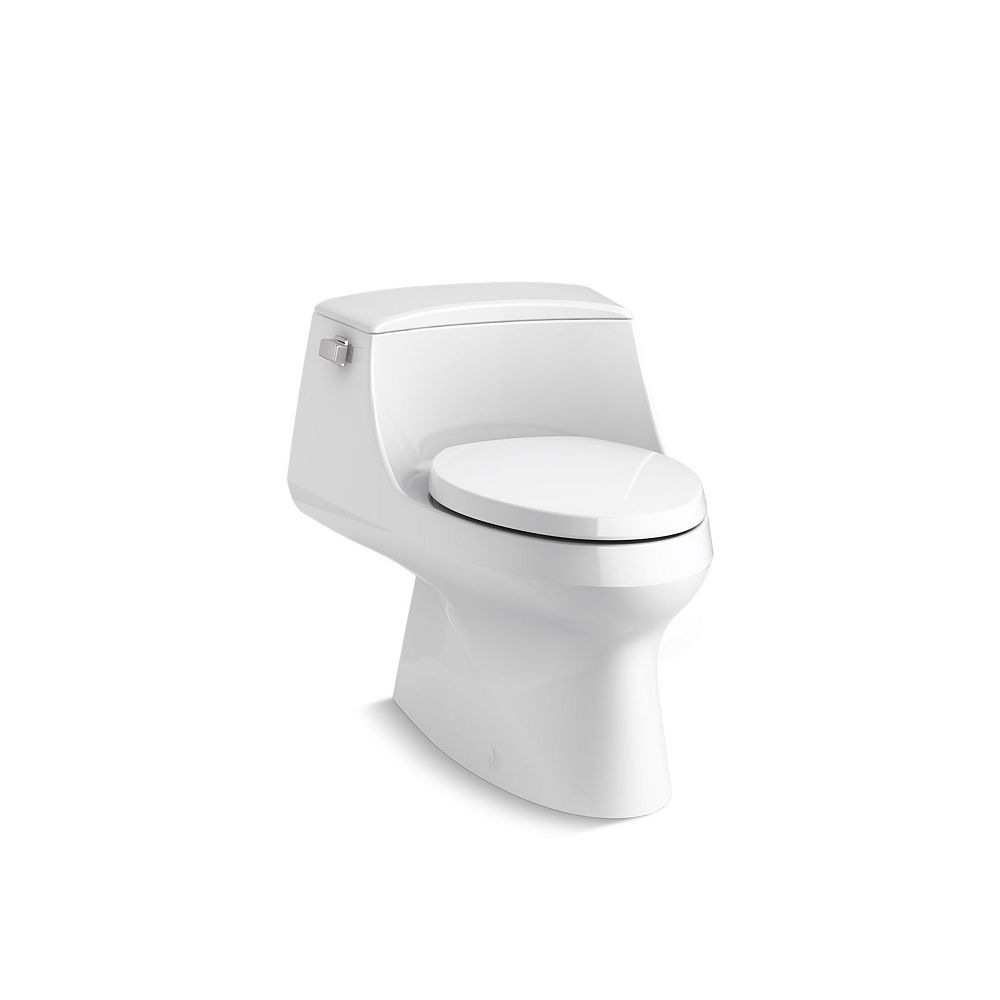 KOHLER San Raphael 1-Piece 1.28 Gpf Single Flush Elongated Toilet With Left-Hand Trip Lever In White