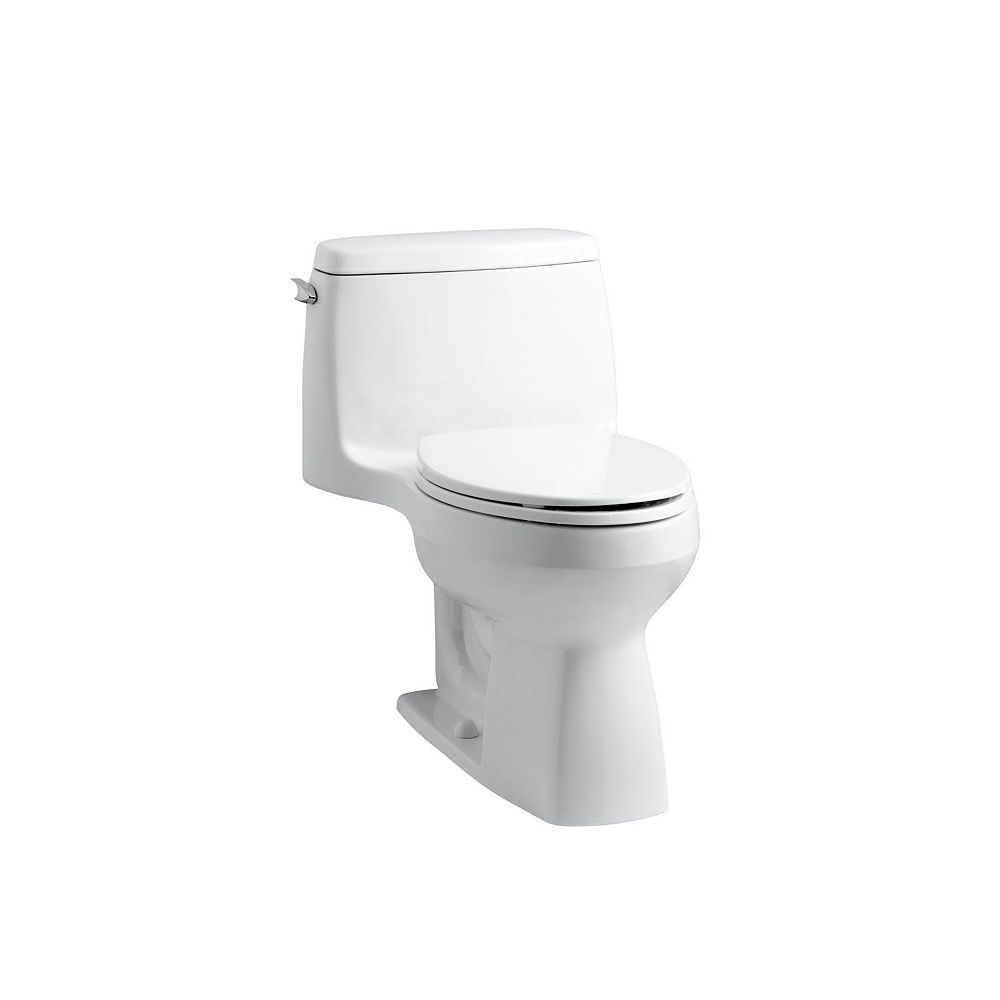 KOHLER Santa Rosa 1-Piece 1.6 Gpf Compact Elongated Toilet With Aquapiston Flush Technology In White