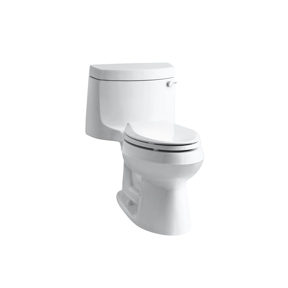 KOHLER Cimarron Comfort Height 1-Piece 1.28 Gpf Single Flush Elongated Toilet In White