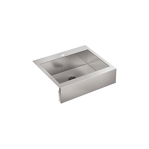 Vault Top Mount Stainless Steel 29.75X24.313X9.313 1-Hole Single Bowl Kitchen Sink