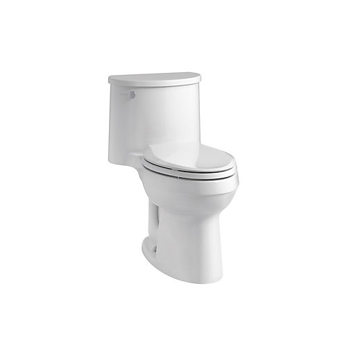 Adair Comfort Height 1-Piece 1.28 Gpf Single Flush Elongated Toilet In White
