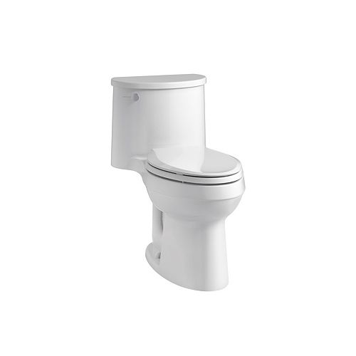 KOHLER Adair Comfort Height 1-Piece 1.28 Gpf Single Flush Elongated Toilet In White