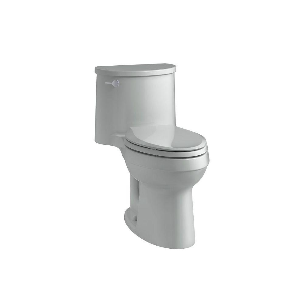 KOHLER Adair Comfort Height 1-Piece 1.28 Gpf Single Flush Elongated Toilet In Ice Grey