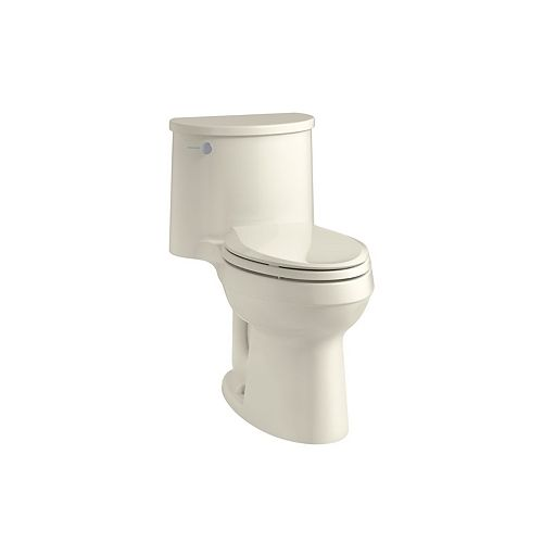 KOHLER Adair Comfort Height 1-Piece 1.28 Gpf Single Flush Elongated Toilet In Biscuit