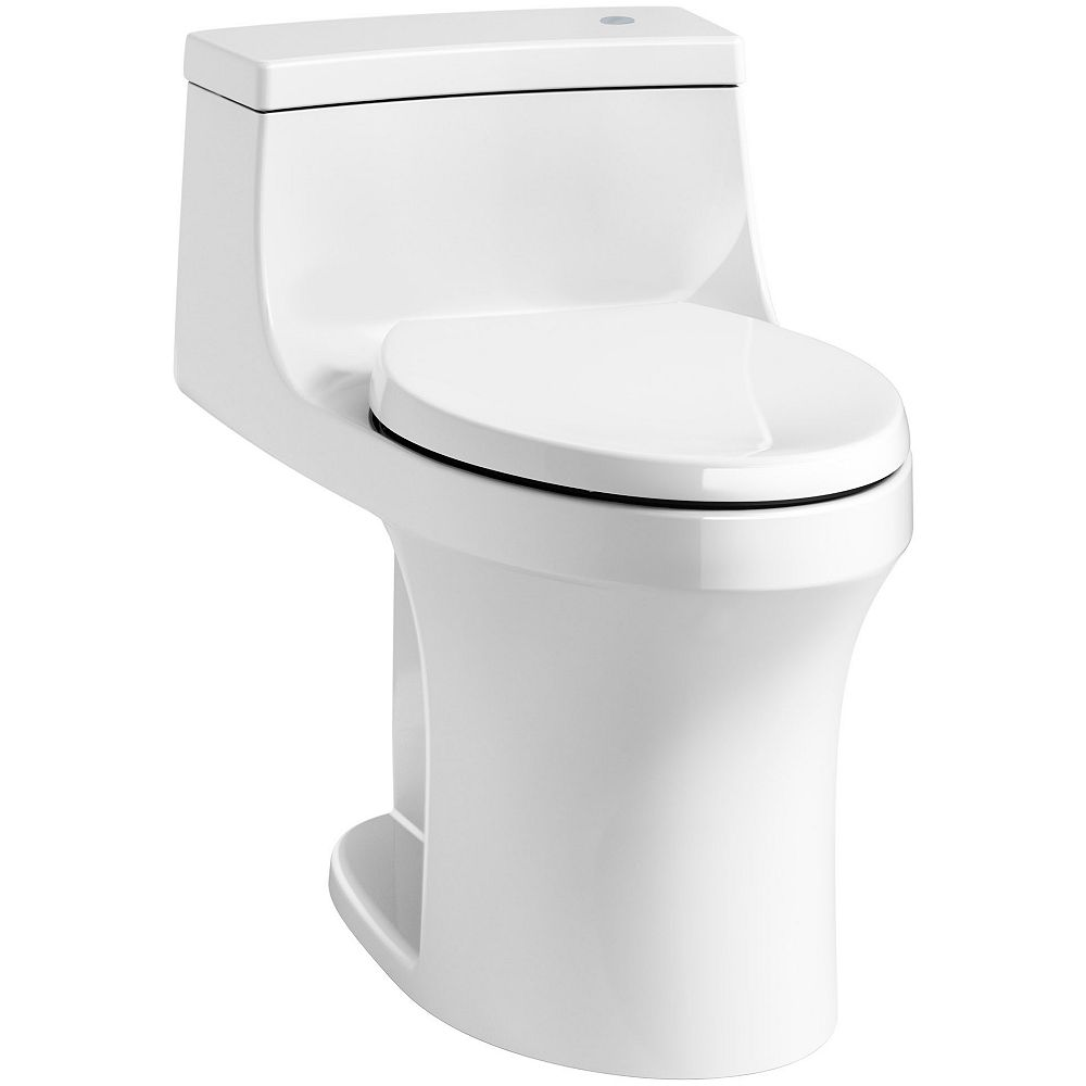 KOHLER San Souci Touchless Comfort Height 1-Piece 1.28 Gpf Elongated Toilet In White