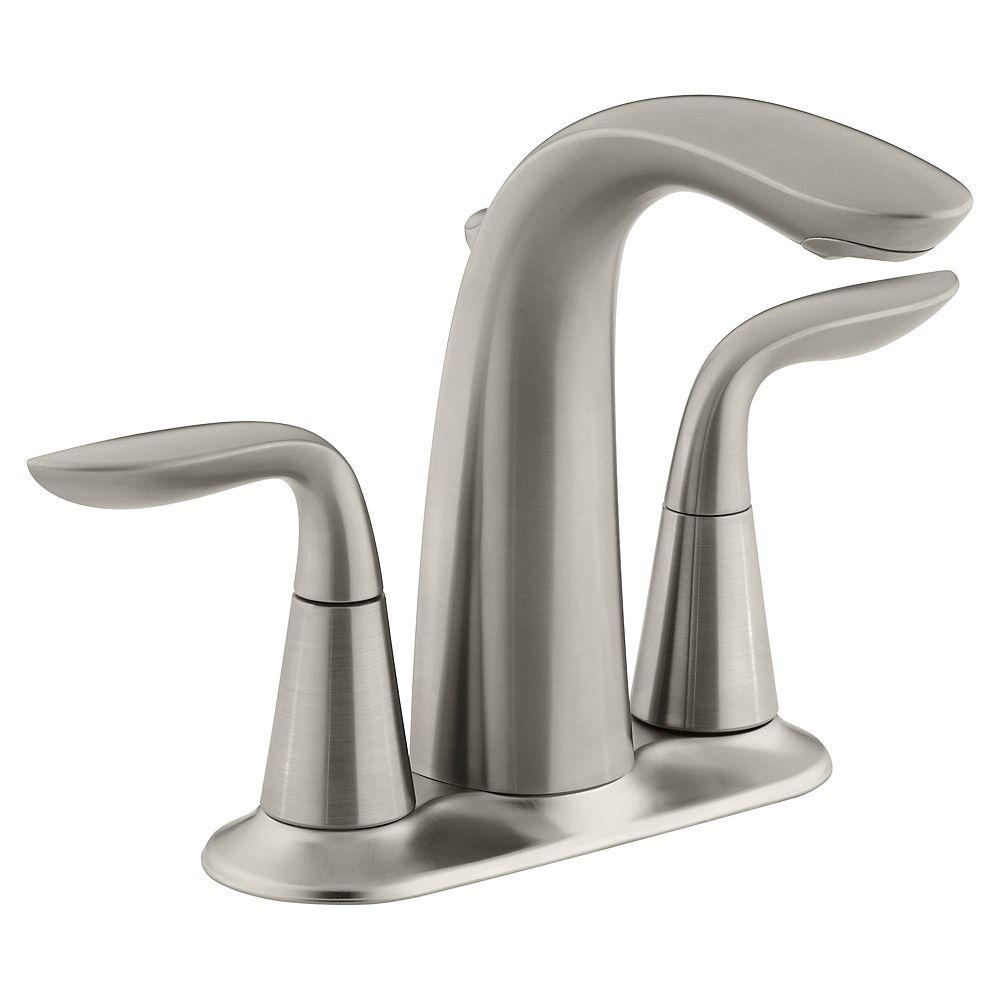 KOHLER Refinia(R) centreset bathroom sink faucet with lever handles