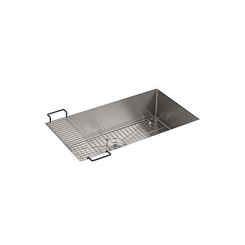Evier de cuisine simple Strive, 32 x 18 1/4 x 9 5/16 po, en sous-surface, avec accessoires