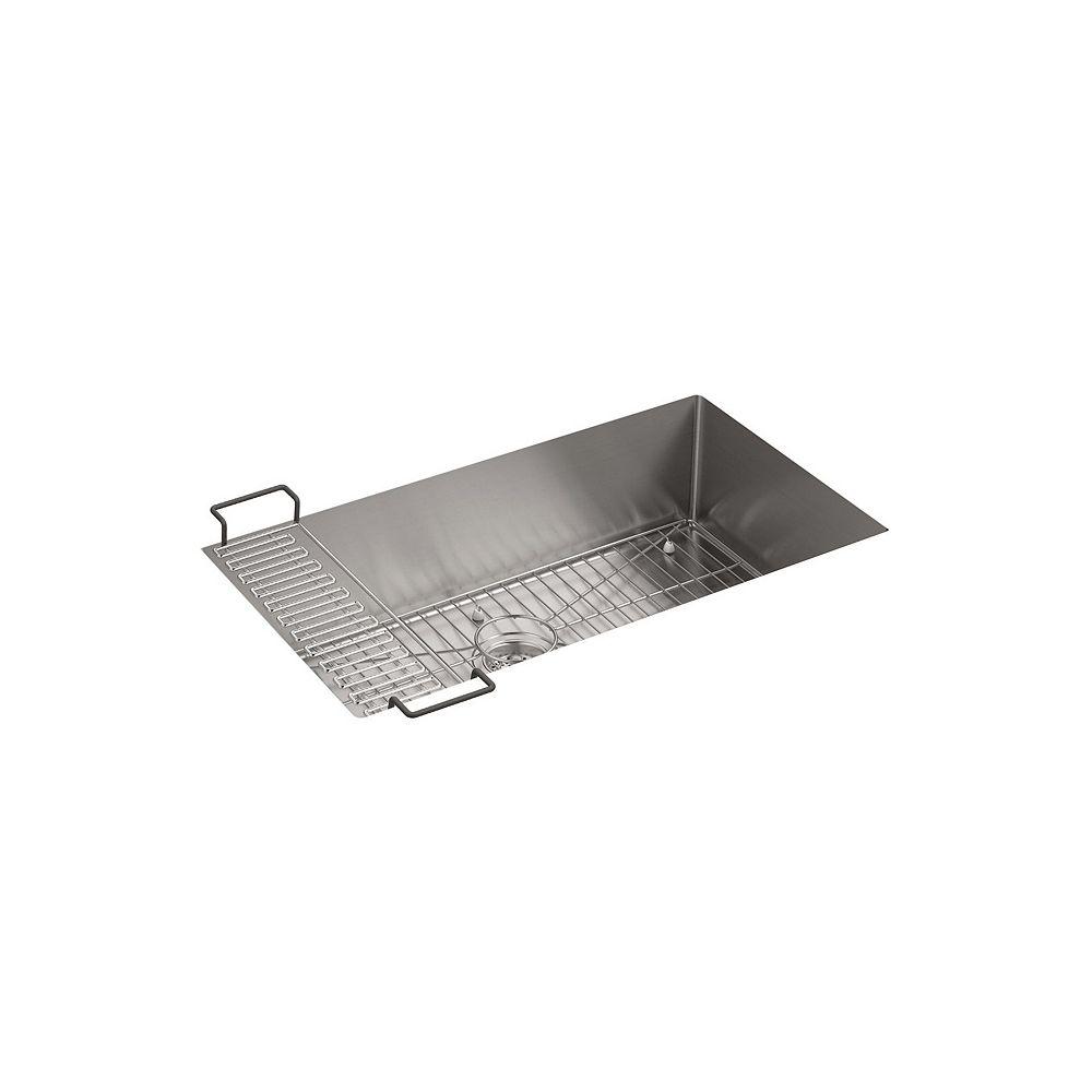 KOHLER Strive Undermount Stainless Steel 18-1/4X32X9-5/16 0-Hole Single Bowl Kitchen Sink