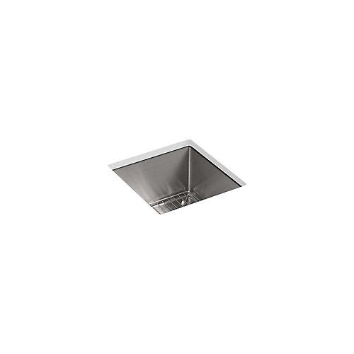 Evier de bar Strive®, de 15 x 15 po, en sous-surface, avec support d'evier