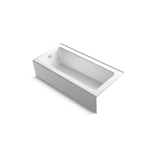 "KOHLER Bellwether(R) 66"" x 32"" alcove bath with integral apron and left-hand drain"