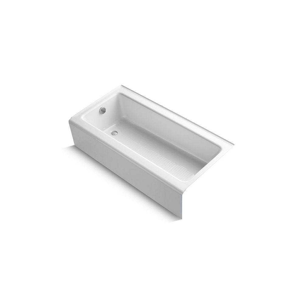 """KOHLER Bellwether(R) 60"""" x 30"""" alcove bath with integral apron and left-hand drain"""