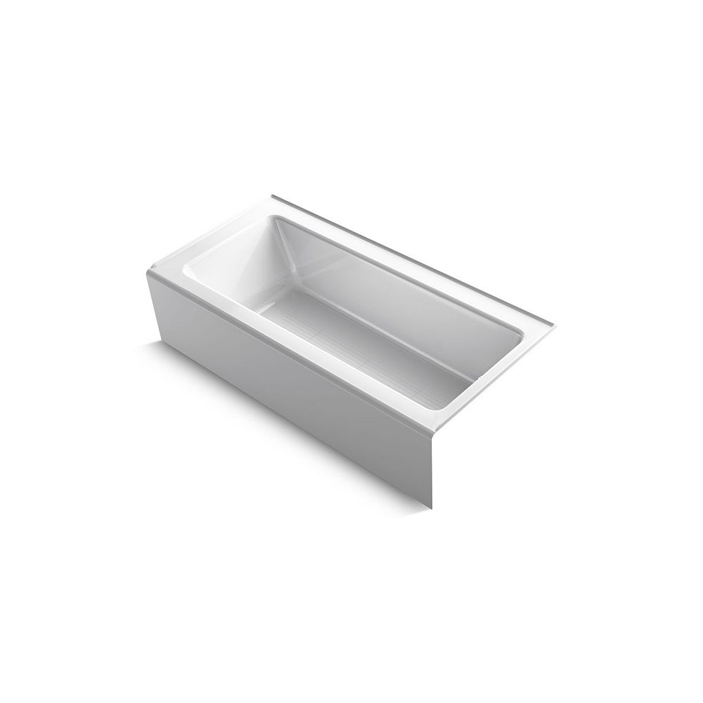 """KOHLER Bellwether(R) 66"""" x 32"""" alcove bath with integral apron and right-hand drain"""