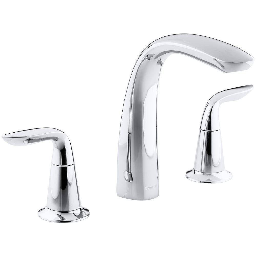 KOHLER Refinia(R) bath faucet trim for high-flow valve with lever handles , valve not included