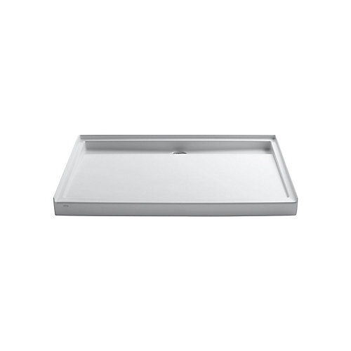 Groove 60-inch x 42-inch Acrylic Single-Threshold Shower Base in White