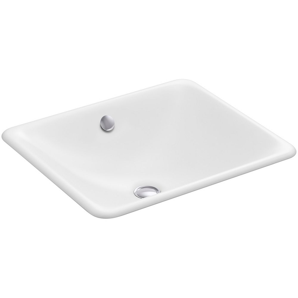 KOHLER Iron Plains(R) drop-in/under-mount bathroom sink