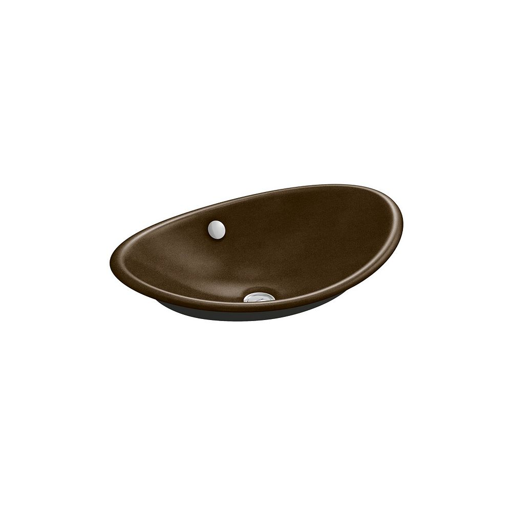 KOHLER Iron Plains(R) Wading Pool(R) oval bathroom sink with Iron Black painted underside