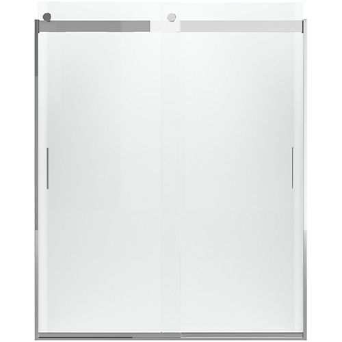 KOHLER Levity 60-1/4  inch X 74  inch Frameless Sliding Shower Door With Handle In Silver