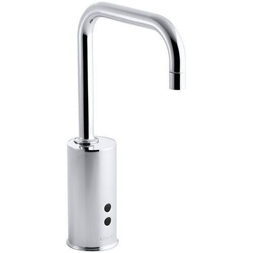 KOHLER Gooseneck single-hole Touchless(TM) hybrid energy cell-powered commercial faucet with Insight(TM) technology