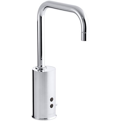 Gooseneck single-hole Touchless(TM) hybrid energy cell-powered commercial faucet with Insight(TM) technology