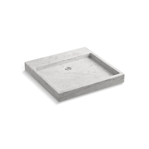Purist Wading Pool® Above-Counter Or Wall-Mount Bathroom Sink In White Carrara Marble