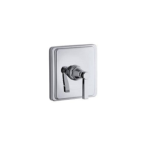 Pinstripe Valve Trim With Pure Design Lever Handle For Thermostatic Valve In Polished Chrome
