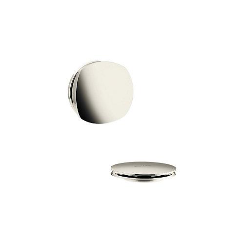 Pureflo Rotary Turn Bath Drain Trim, Vibrant Polished Nickel