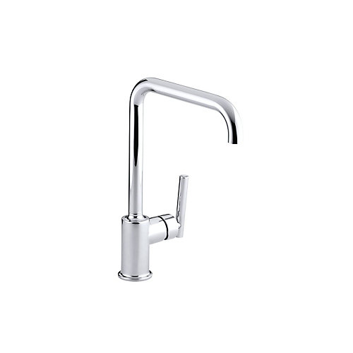 Purist Primary Single Hole 1-Handle Kitchen Faucet In Polished Chrome