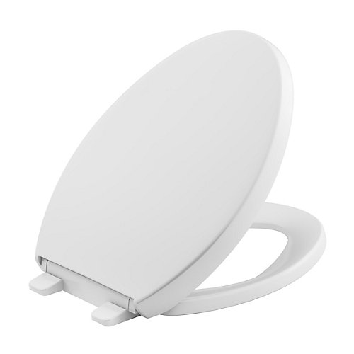 Reveal Quiet-Close Elongated Closed Front Toilet Seat With Grip-Tight Bumpers In White