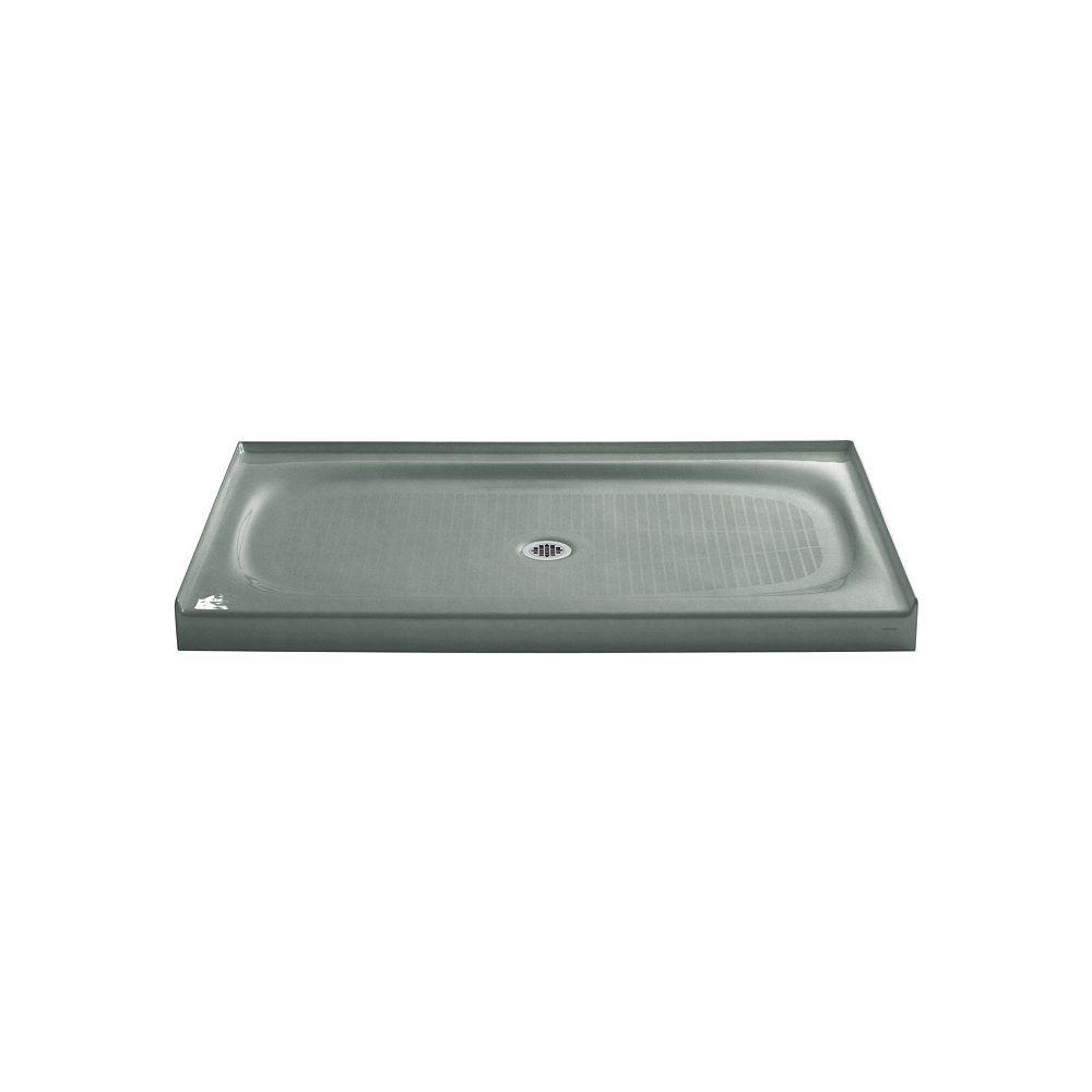 KOHLER Salient 60 inch X 36 inch Single Threshold Center Drain Shower Base, Basalt