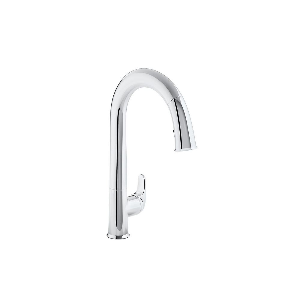 KOHLER Sensate Ac-Powered Touchless Kitchen Faucet in Polished Chrome
