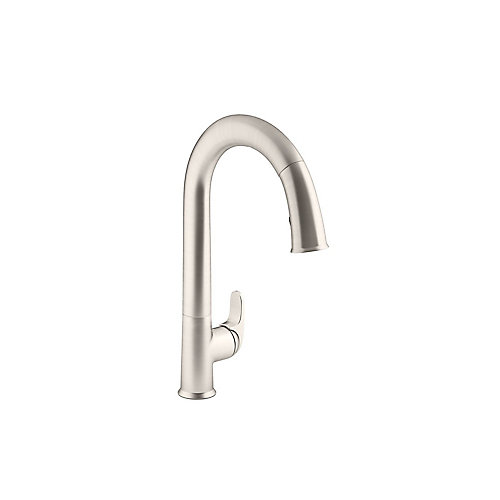 Sensate Ac-Powered Touchless Kitchen Faucet In Vibrant Stainless With Docknetik And Sweep Spray