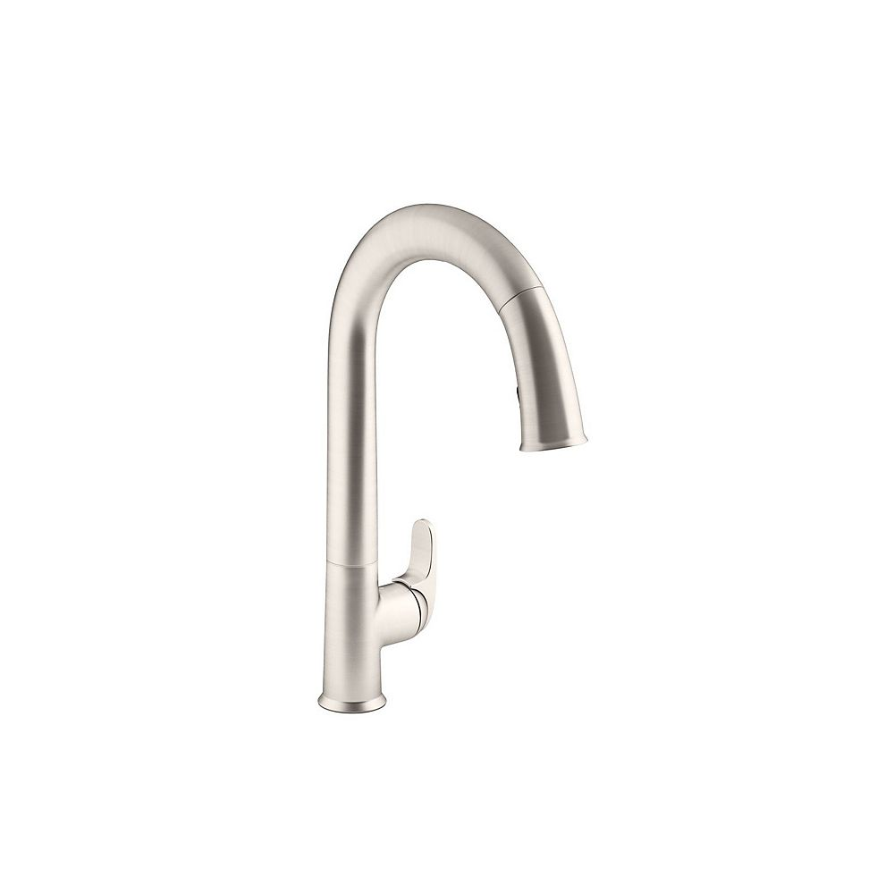 KOHLER Sensate Ac-Powered Touchless Kitchen Faucet In Vibrant Stainless With Docknetik And Sweep Spray