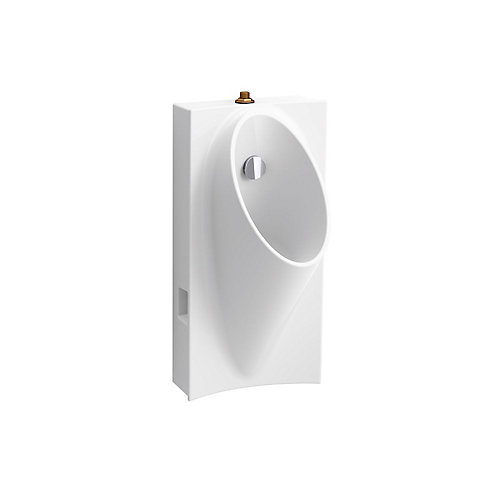 Steward Hybrid High-Efficiency Urinal With 3/4-inch Top Spud In White