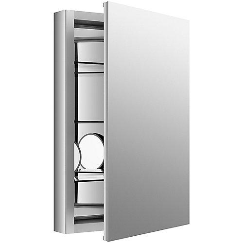 Armoire a pharmacie Verdera en aluminium, 20 x 30 po, avec miroir grossissant reglable et porte a fermeture lente
