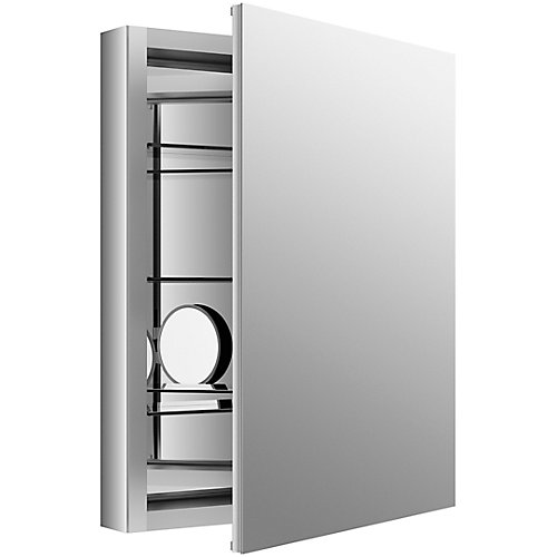 Verdera 24 inch W X 30 inch H Aluminum Medicine Cabinet With Magnifying Mirror And Slow-Close Door