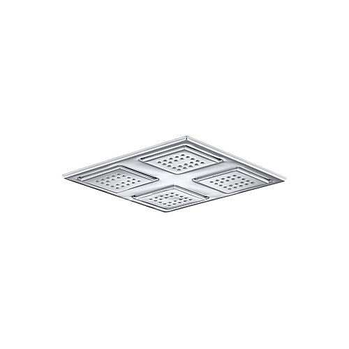 Watertile Rain Overhead Showering Panel, Polished Chrome