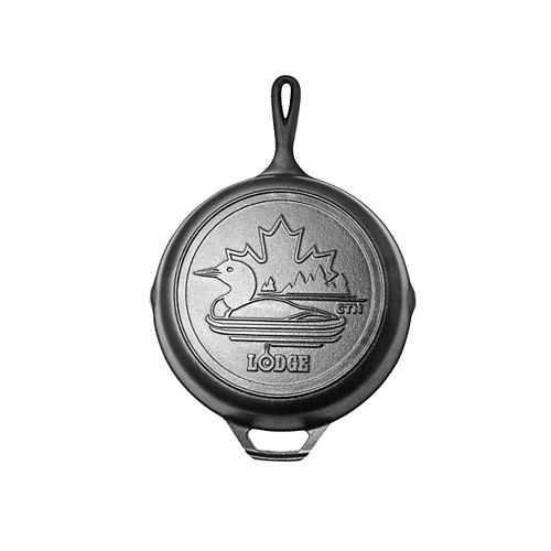 Canadiana Series 10.25-inch Cast Iron Skillet with Loon Scene - Limited Edition