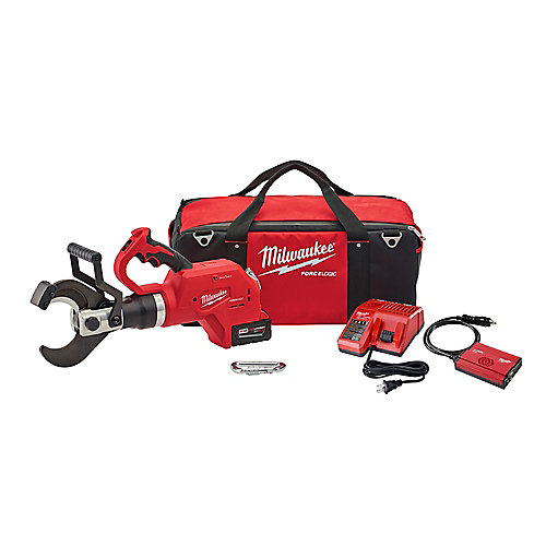M18 18-Volt Lithium-Ion Cordless FORCE LOGIC 3-Inch Underground Cable Cutter W/ (1) 5.0Ah Battery