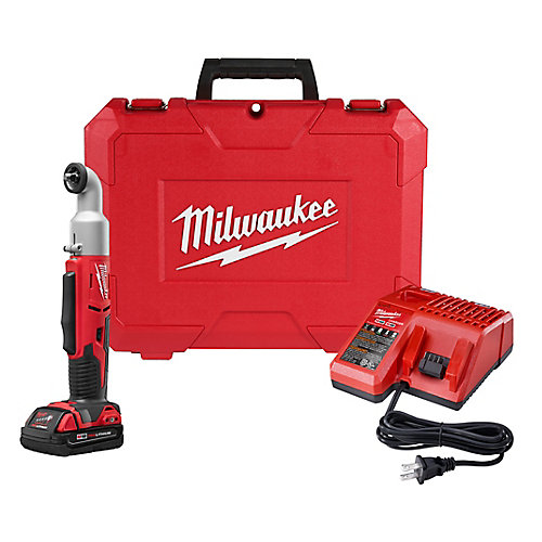M18 18-Volt Lithium-Ion Cordless 3/8 in. 2-Speed Right Angle Impact Wrench Kit W/ 1.5Ah Battery