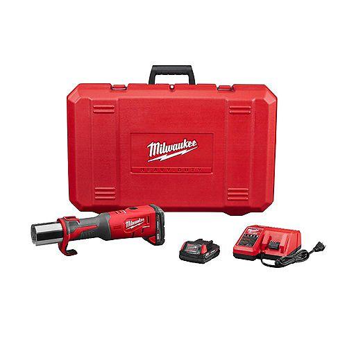 Milwaukee Tool Presse sans fil FORCELOGIC M18 au lithium-ion, 18V; 2batteries, 2,0Ah; étui rigide