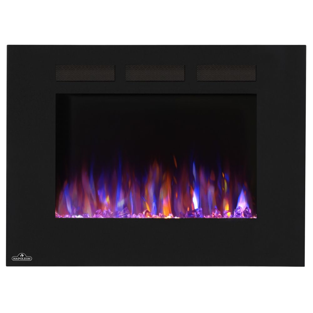 Allure 32-inch Linear Wall Mount Electric Fireplace
